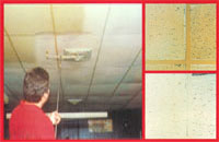 Ceiling Cleaning by our Cleaning techs and Janitors in office buildings or small businesses in Denton, Sanger, Krum, Argle, Corinth, Hickory Creek.